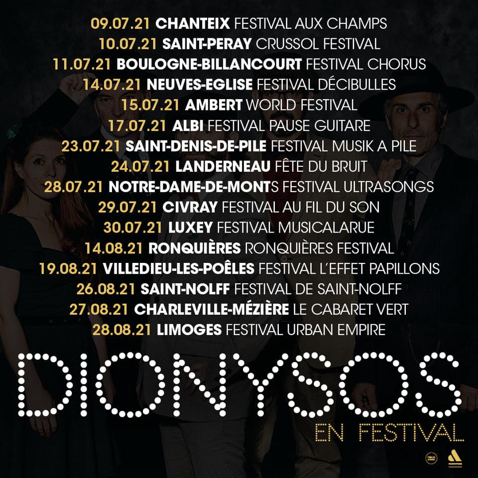 Dionysos - Time Machine Experience - Tournée Festival 2021