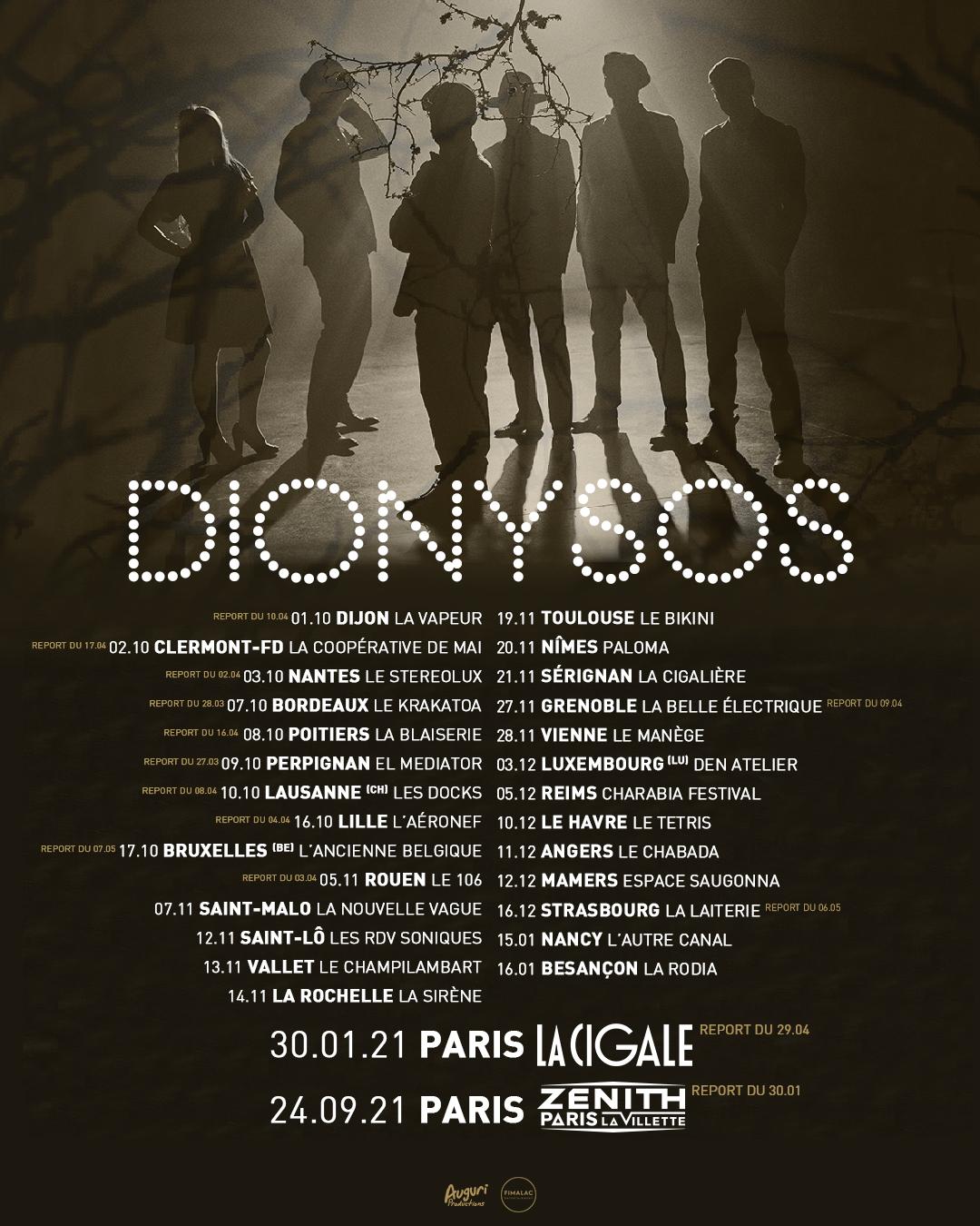 Dionysos - Surprisier - Tournée 2020